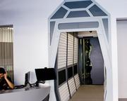 """The """"space portal"""" in the office."""