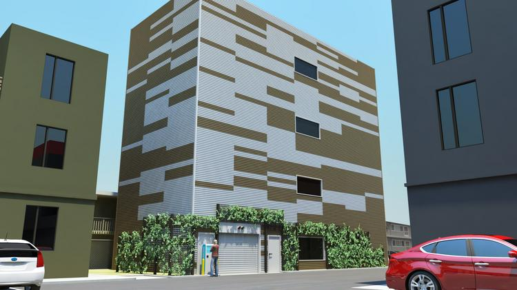The Hive parking tower, at 24th Street between Broadway and Valley St., will have 39 parking spots in a 1,500-square-foot space, or under 40 square feet per car.