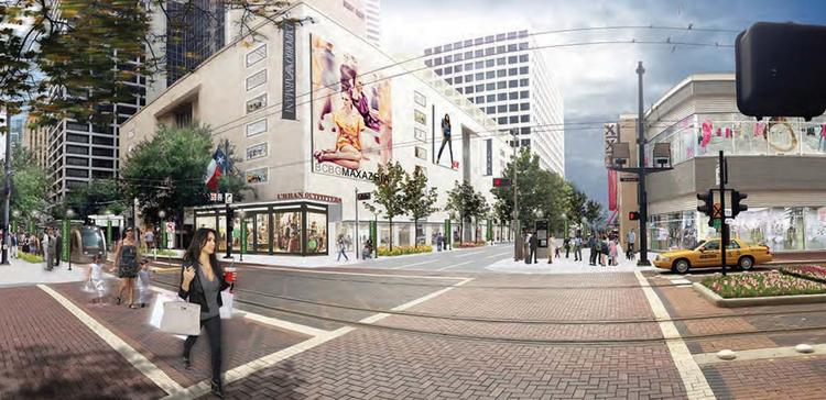 Downtown Retail Task Force report. Vision for intersection at Main and Dallas.