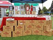 Boxes of Rooibee Red Tea were on display on the grounds of Google Inc.'s headquarters. On Thursday, Google employees sampled products and voted on ones that would be offered in the company's micro kitchens. Rooibee Red Tea officials might not know for months whether their product is among those chosen.