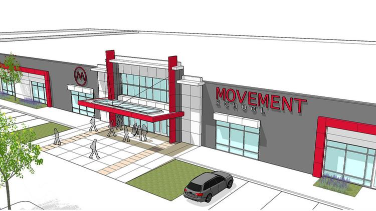 Movement School, planned for the former Kmart-anchored shopping center at 2701 Freedom Drive, will accommodate 300 students starting next fall.