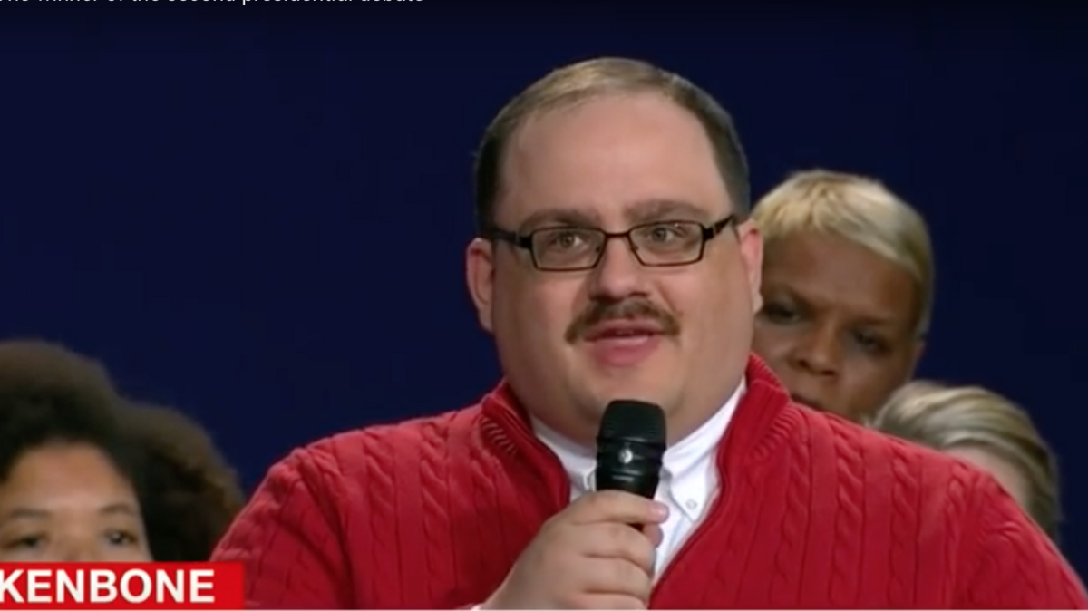 The famous red sweater that Ken Bone purchased from Wisconsin ...
