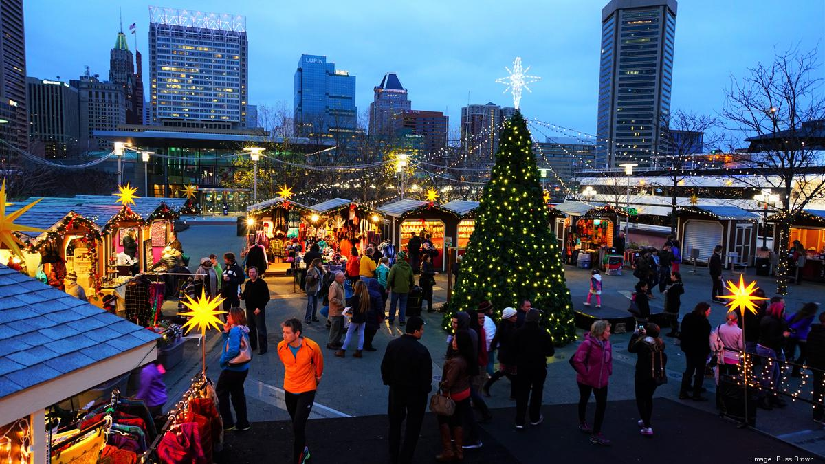 christmas village returns to inner harbor this year with santa claus baltimore business journal - Christmas In Baltimore