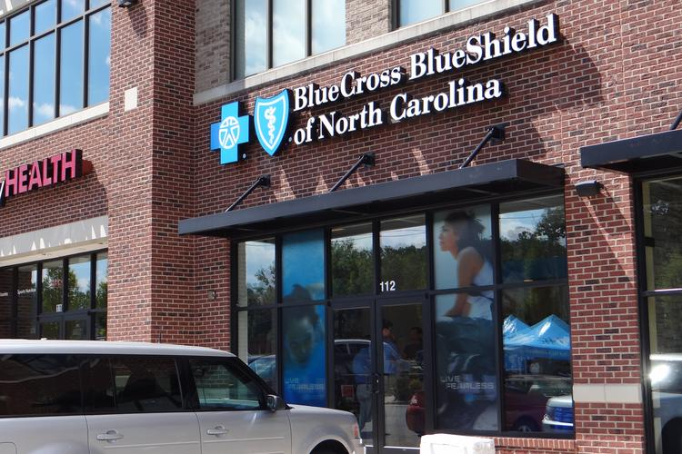 Blue Cross Blue Shield's new retail location on New Garden Road in Greensboro, one of seven to open in the state this year.
