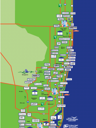 Southern Florida Map.The Alliance Broward County Organizations Team Up To Highlight