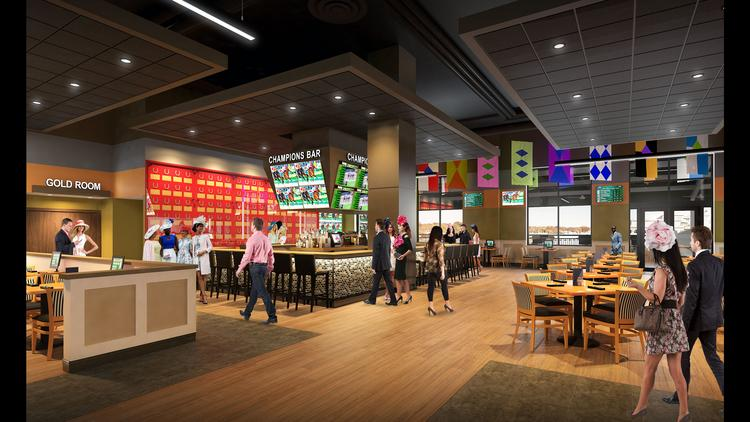 Churchill Downs Racetrack plans to spend $16 million to upgrade the second floor of its clubhouse, including an expansion of the Champions Bar.