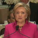 Watch Clinton get laughs, provoke a few groans at Al Smith dinner