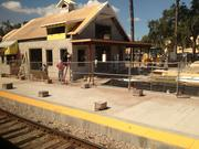 The new Winter Park train station is now under construction and will serve Amtrak and SunRail riders.