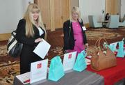 Lisa Rabinsky of CNL Bank and Joanie Connors of The Honda Classic at the Women in Distress table.