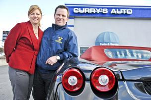 Curry's Auto Service, led by married couple Judy and Matt Curry, recently purchased a stake in a Canadian software company and new diagnostic equipment as part of its effort to remain on the technological cutting edge.