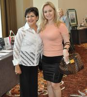 Olga Guilarte of The Boys and Girls Club of Miami with honoree Eris Thomas of Coral Gables Executive Physicians.