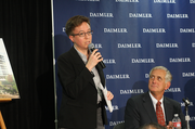 Oregon House Speaker Tina Kotek's district includes Swan Island, home to Daimler Trucks. Kotek appeared at Friday's press conference at which Daimler revealed terms of its Portland headquarters decision.