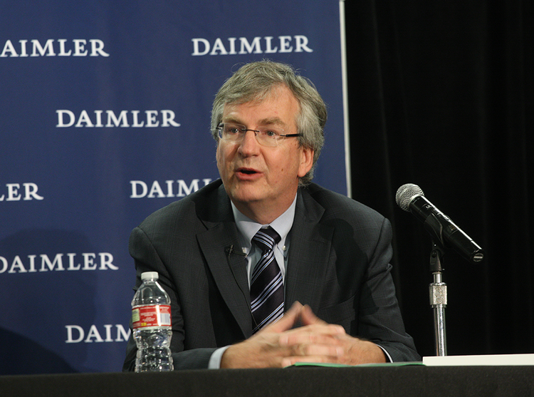Daimler Trucks North America CEO Martin Daum announced in September that the company is consolidating its North American headquarters in Portland.