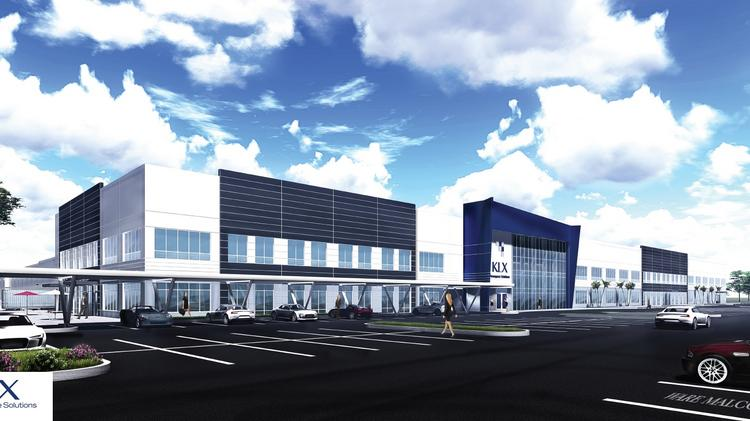 A rendering of KLX Aerospace Solution's 500,000-square-foot headquarters at Countyline Corporate Park.