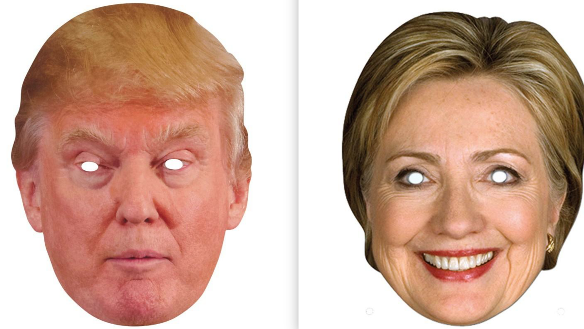 photo regarding Donald Trump Mask Printable identify Whos successful the presidential race inside dress masks