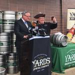 Kenney drinks to Yards new NoLibs HQ, beermaker to create 70 jobs