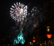 And then everything lit up with the Happy HalloWishes fireworks show.