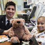 United Airlines employees bring bundles of cheer (and bears) to young patients