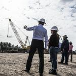 The investments of two major companies finally take shape as Jacksonville natural gas facility goes vertical