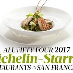 Here are all of the Bay Area's Michelin-starred restaurants for 2017