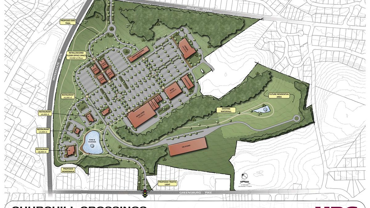 first look new site plan for churchill crossings pittsburgh