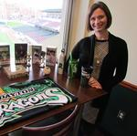This banker-turned-Dragons-VP is Minor League Baseball's woman exec of the year
