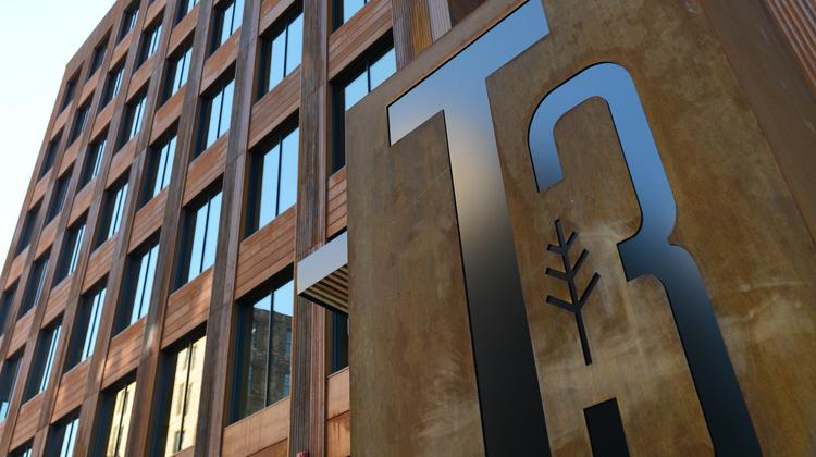 Sneak Peek Hines Finishes Wooden T3 Office Building In
