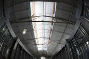 Main corridor in what was once the bottling plant. Skylights let natural light into the units.