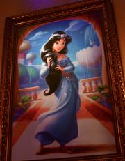 Princess Jasmine's portrait hangs in the gallery.