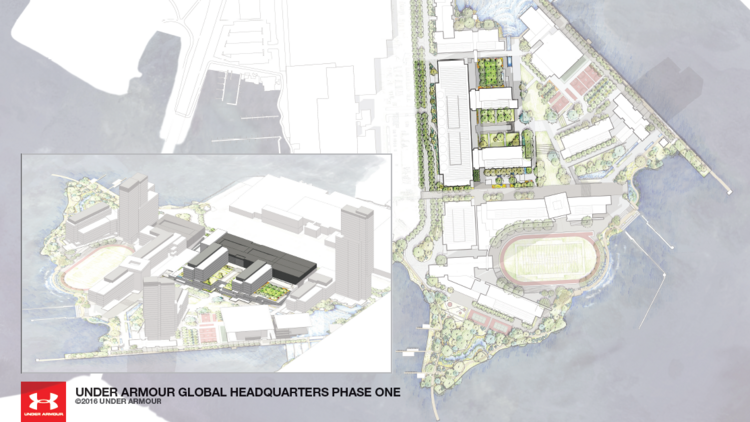 Under Armour Campus Map.Under Armour Presents Plans For First Phase Of 50 Acre Campus