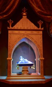 Cinderella's glass slipper is the centerpiece of the Royal Gallery.