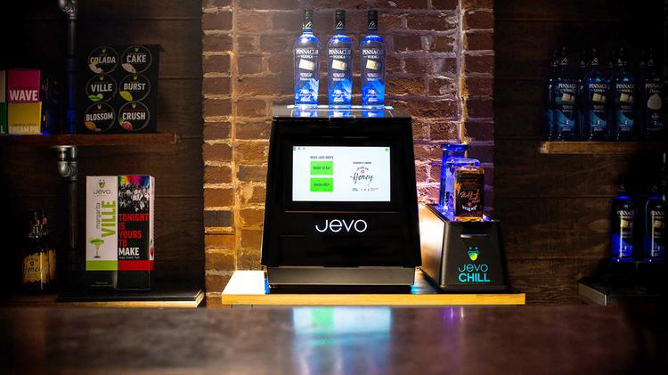 Software Technology Group's Jevo Maker turns out 20 chilled Jell-O shots at a time.