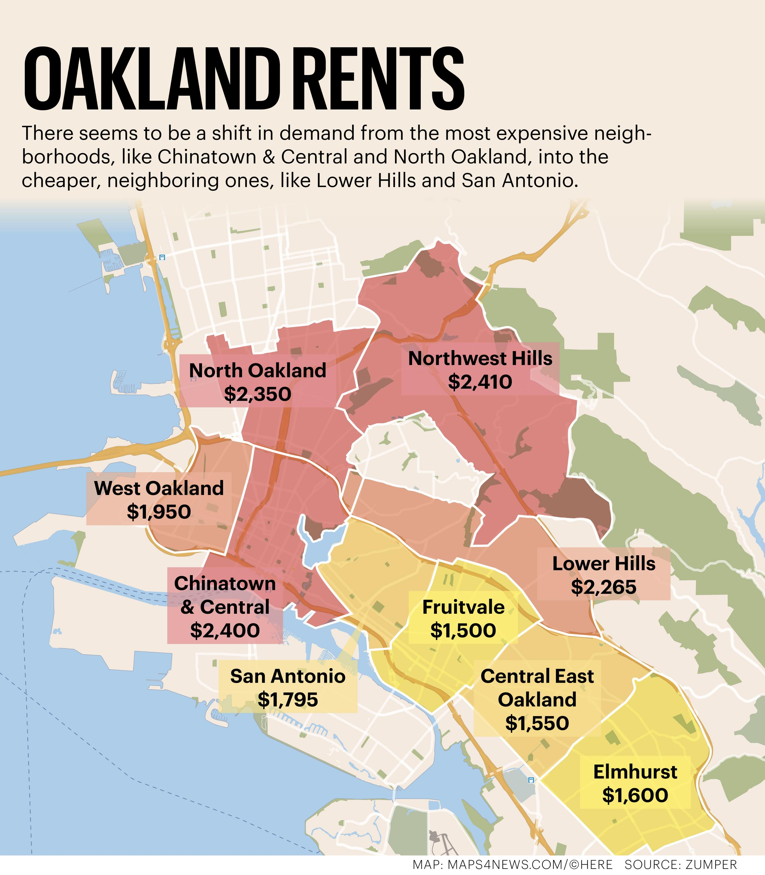 Homes For Rent East Bay Ca: Here Are Oakland's Most Expensive And Most Affordable
