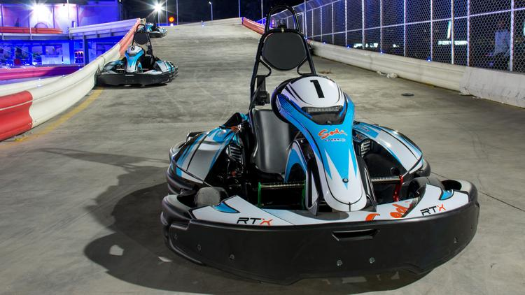 A photo of one of the karts that will race on the new multi-level