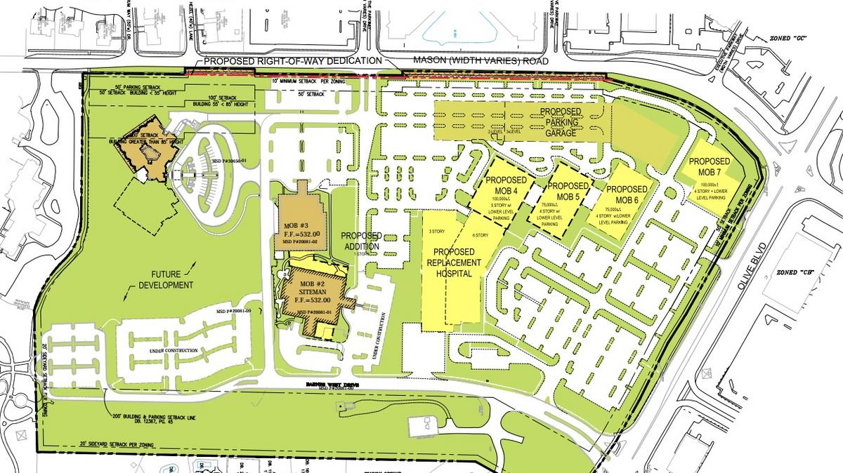 Bjc Plans Replacement Hospital In Creve Coeur St Louis Business