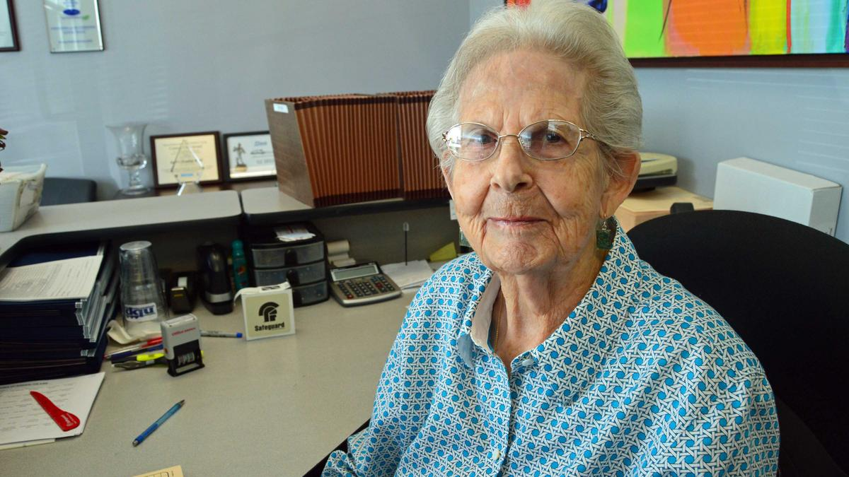Meet Caroline Strand 95 Year Old Office Grandmother For