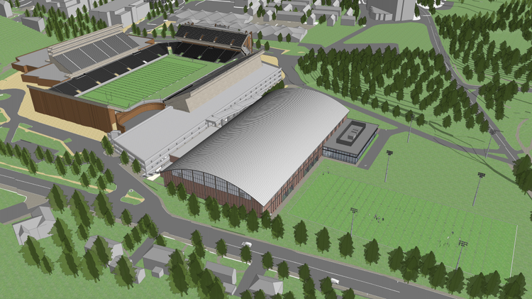Go inside boston college s planned athletics field house for Floor plans boston college