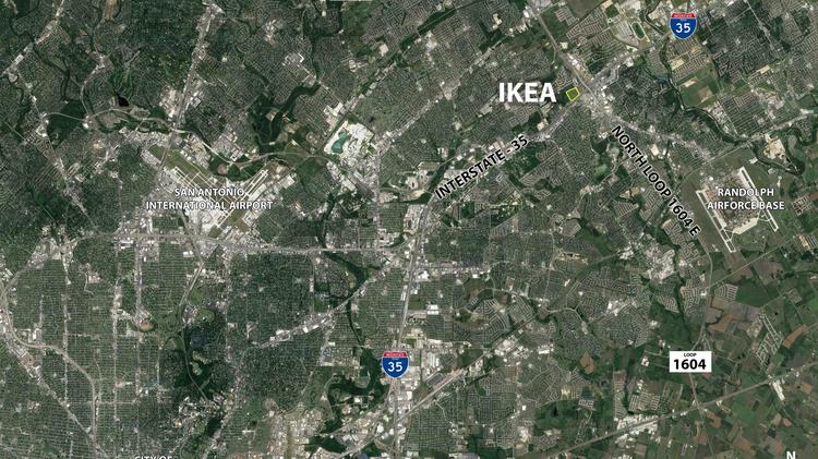 Cencor realty services to leverage future ikea location to for Ikea san antonio