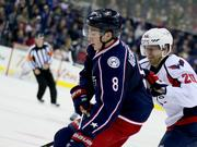 Blue Jackets defenseman Zach Werenski in action at Nationwide Arena.