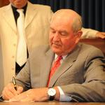 Former Ga. Gov. Sonny Perdue meeting with President-elect Trump
