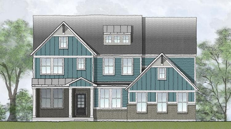 The Vanderburgh is one of the homes available in the Traditions and Heritage at Elliott Farm & Drees Homes is developing their first 200 Home \
