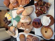 Caffe Luxxe offers sandwiches and baked goods to accompany its coffee selection.