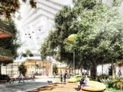 Public space planned in the Magic City project in Miami's Little Haiti.