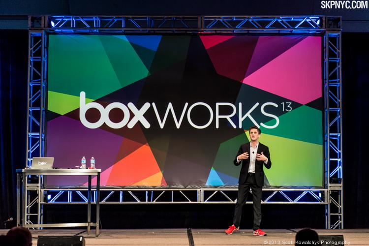 Box CEO Aaron Levie unveiled new features to his cloud-based data storage and sharing service at the company's annual BoxWorks conference. Tomorrow, Levie's favorite band, Blink-182 will entertain BoxWorksters.