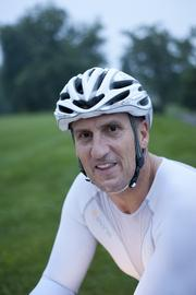 """Why do you ride so early in the morning? """"Just to beat the heat and traffic. It's the coolest part of the day. I can get my heart rate at 85 to 95 percent of its capacity for two hours and then still be into work on time."""" - Bob D'Antoni, 54, president/owner, Cost Management Strategies LLC, an expense reduction consulting firm"""