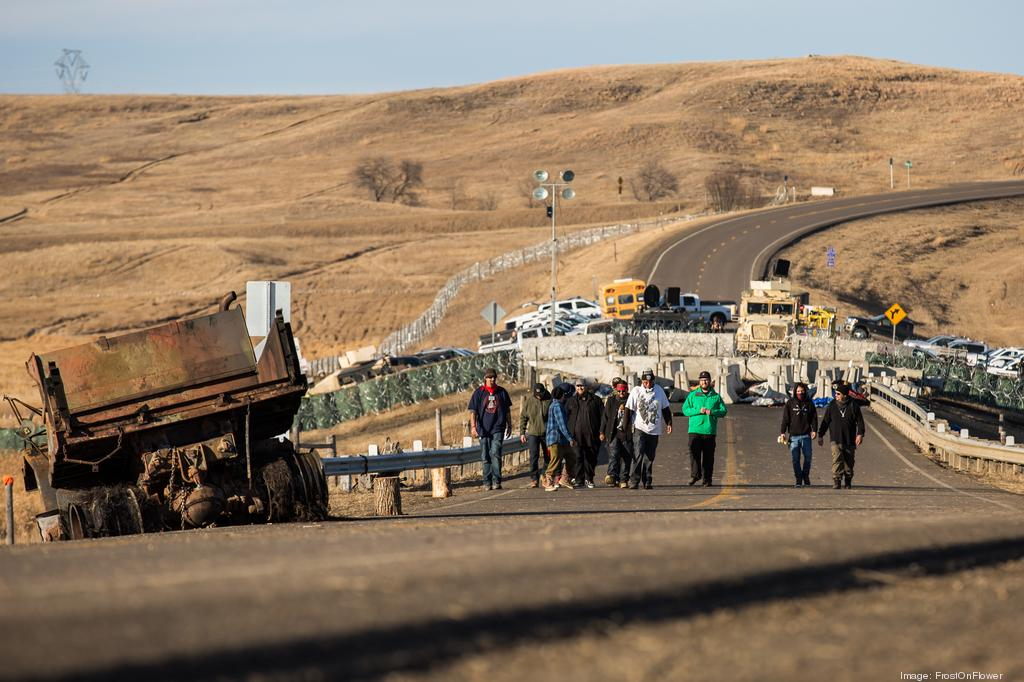 FROSTONFLOWER/ISTOCK Standing Rock protestors block part of a highway in North Dakota in November. EnviroMedia CEO Valerie Salinas-Davis of Austin recently spent several days documenting the historic discourse at Standing Rock, capturing the emotions and controversies.