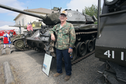 Former Oktoberfest board member Joe Borschowa displays his collection of military vechicles.