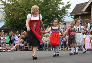 Volunteer Marylin Hall, a Mt. Angel native and resident, has been making traditional Bavarian costumes for over 30 years. She outfits all of the Mt. Angel dancers.