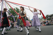 Children participate in a range of traditional activities at Mt. Angel Oktoberfest.