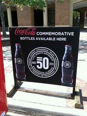 Coca-Cola offered a commemorative bottle for Empowerment Week outside the Birmingham Civil Rights Institute.